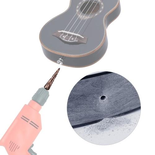4mm-12mm End Pin Hole Alesatore conico alesatura trapano falegname utensile da taglio per chitarra acustica ukulele