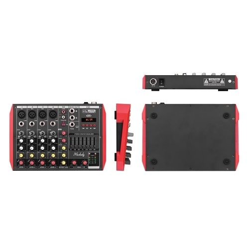 Muslady D4 Portable 4-Channel Mixing Console Mixer