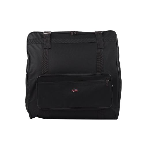Akkordeon Koffer Gig Bag Rucksack mit Anti-Kollisions-Zwischenschicht für 120 Bass Akkordeons Musik Keyboard Zubehör