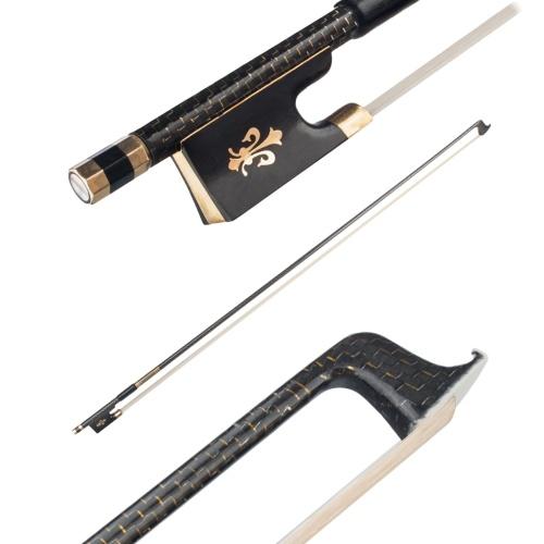 NAOMI VB0908-024 Cabon Fiber 4/4 Archet pour violon Archet de haute qualité
