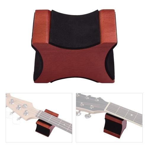 ギターネックレストサポート枕マホガニー素材2使用高さエレキアコースティックギターベースマンドリンのツール