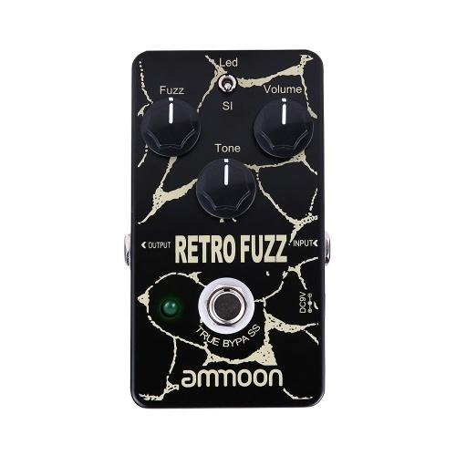 ammoon RETRO FUZZ Pédale d'effet guitare analogique Fuzz 2 modes True Bypass Shell en alliage d'aluminium