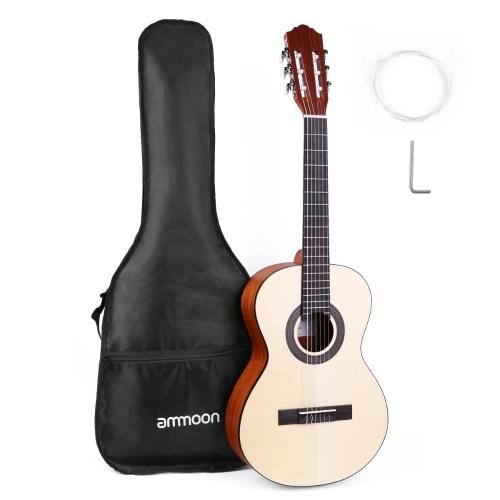 ammoon CG-11 Guitarra clásica acústica de viaje de 36 pulgadas