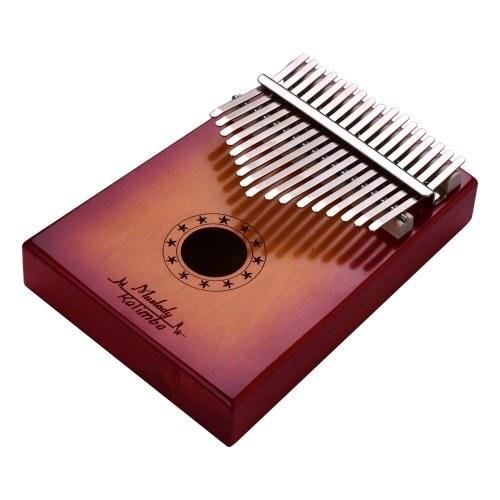 Muslady 17 teclas Piano de pulgar Kalimba Mbira Piano de dedo Madera maciza Material de metal Instrumento musical portátil