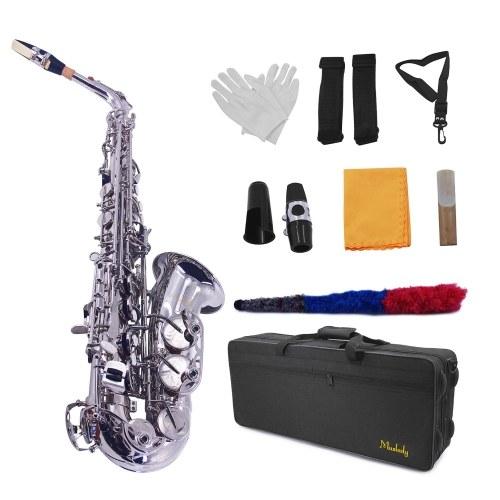 Muslady AS-100N Eb Альт-саксофон Саксофон с латунным покрытием никель 802 клавишный духовой инструмент