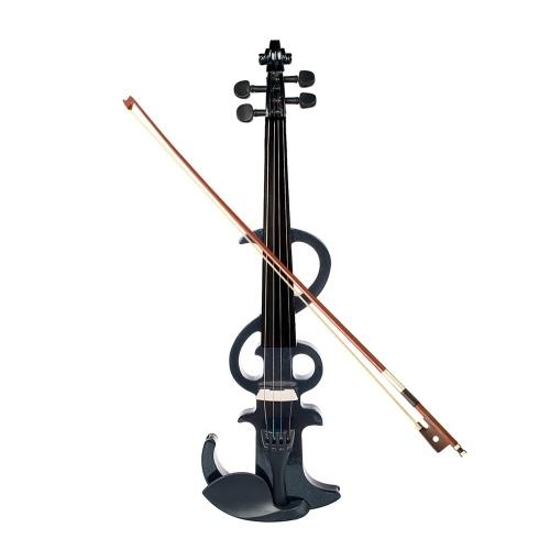 Jeu de violons électroniques silencieux 4/4 pleine grandeur en érable et ébène