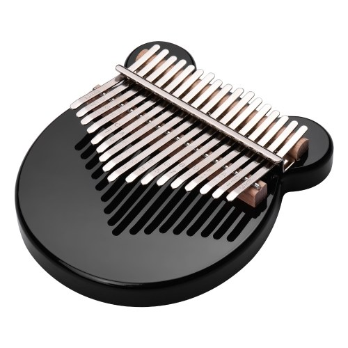 ammoon 17-Key Thumb Piano Black Acrylic Kalimba Mbira Musical Instrument