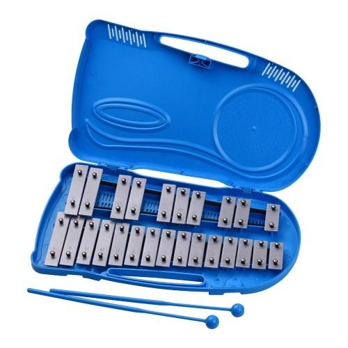 Профессиональный 25-нотный ударный инструмент Glockenspiel Xylophone Percussion Инструмент для раннего обучения