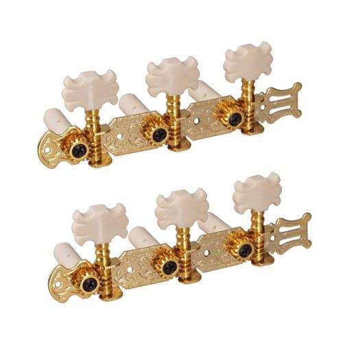 1 paire de chevilles de réglage de guitare en or chevilles de réglage de corde de guitare classique tuners têtes de machine