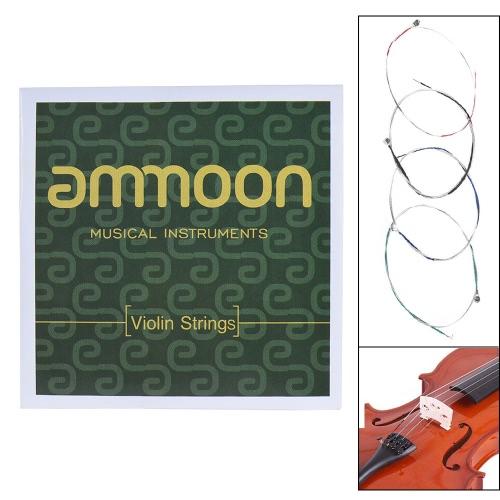 ammoon Full Set High Quality Violin Strings Size 1/2 & 1/4 Violin Strings Steel Strings G D A and E Strings
