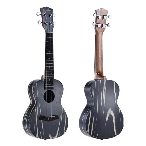 "ammoon 24 ""木製アコースティックソプラノウクレレUke Instrument Musical Gift"