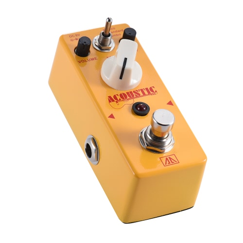 AROMA AAS-5 Acoustic Guitar Simulator pedał efektów 3 tryby Stop aluminium ciała True Bypass