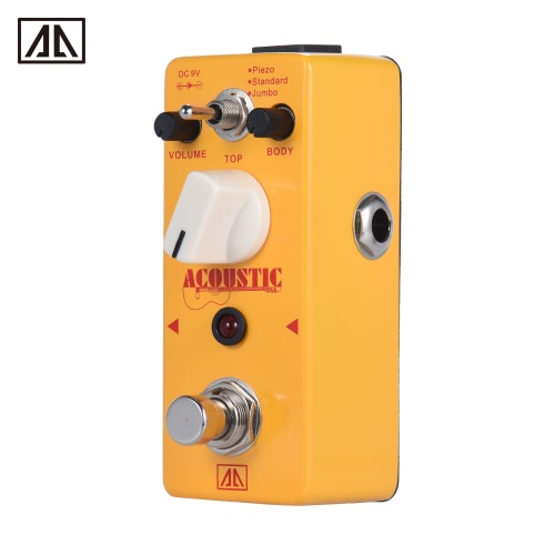 AROMA AAS-5 Acoustic Guitar Simulator Effect Pedal 2 Modes Aluminum Alloy Body True Bypass