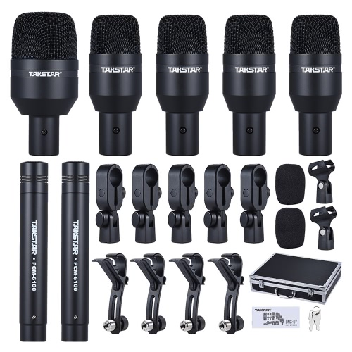TAKSTAR DMS-D7 Professional Musical Instruments Drum Set Wired Microphone Mic Kit