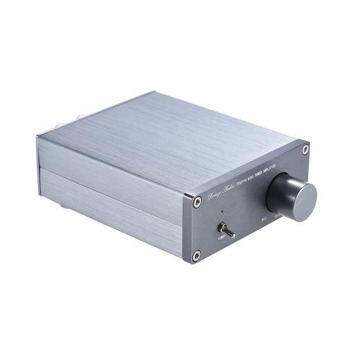 ミニHiFi 2.0ステレオデジタルオーディオパワーアンプアンプデュアルチャンネル出力50W * 2 RCAケーブル付きアルミ合金