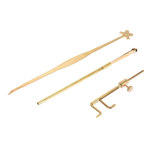 Violin Luthier Tools Kit Set Sound Post Gauge Measurer & Retriever Clip & Setter Brass