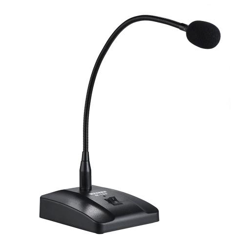 """Cardioide microfono a condensatore desktop professionale cablato con cavo da 10ft XLR-to-1/4 """"per la conferenza Meeting Broadcast"""