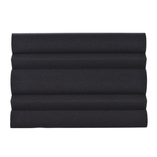 Paquete de 4 Espumas acústicas de estudio Esponja Panel Pared Rincón Azulejos Absorción Sonido Aislante Espuma ignífugo Alta densidad Negro 25 * 25 * 50 cm / 10 * 10 * 20 pulgadas