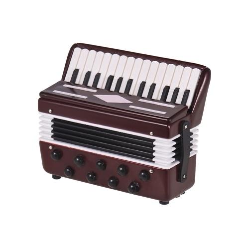 Mini acordeón modelo exquisita decoración de instrumentos musicales de escritorio adornos regalo musical con caja delicada