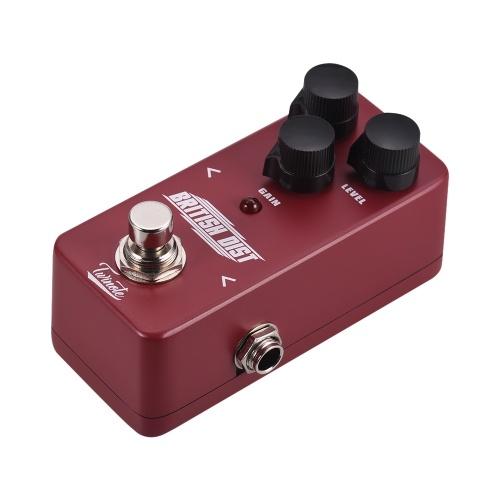 Twinote BRITISH DIST Mini británico Distorsión analógica Pedal de efecto de guitarra Procesador o Full Metal Shell con True Bypass