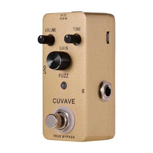 CUVAVE FUZZ Vintage Fuzz Pédale d'effet guitare Shell en alliage de zinc True Bypass