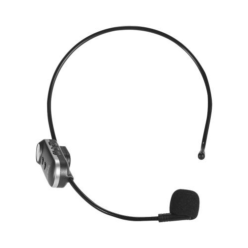 Microfono senza fili a mani libere Microfono a condensatore con microfono Megaphone Microfono a condensatore con funzione di invio FM e funzione BT per la guida turistica Stage Performer