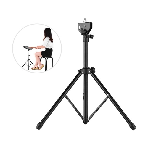 Drum Pad Metal Stand 8mm Screw Connector 46cm-79cm Adjustable Height for 8-10 inch Drum Practice Pad with Carry Bag
