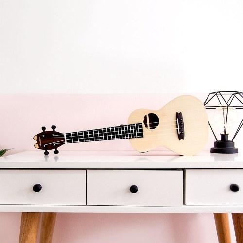 Xiaomi Youpin Populele Интеллектуальная гавайская гитара 4 струны 23in Акустическая электрическая гавайская гитара Светодиодные бусины лампы Маленькая гитара фото