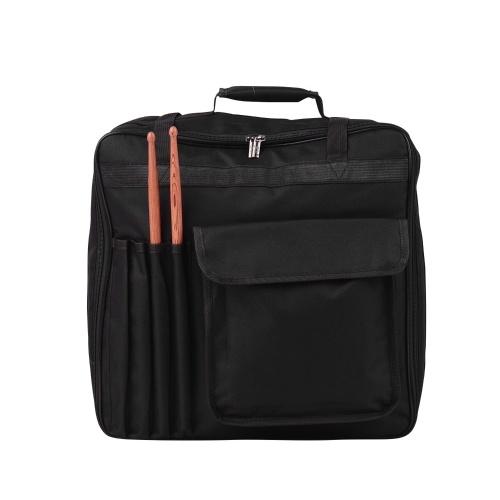 Профессиональная 14-дюймовая сумка для малого барабана с наплечным ремнем Наружные карманы Рюкзак для музыкальных инструментов Черный фото