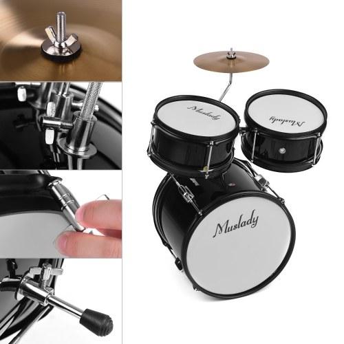Muslady Kids Children Junior Beginners 3-Piece Drum Set Drums Kit
