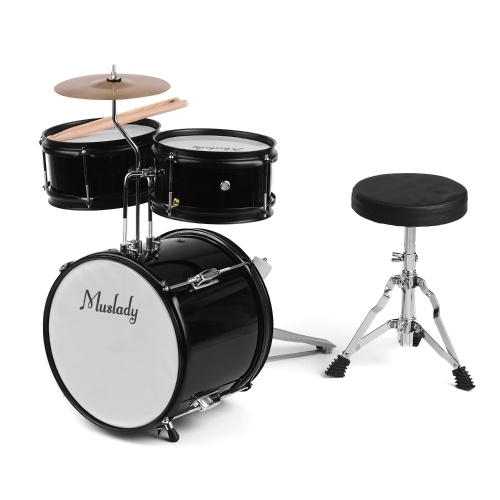 Muslady Kids Children Junior Beginners 3-Piece Drum Set Drums Kit