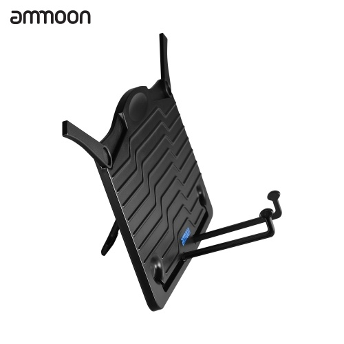 ammoon Mini Desktop Music Stand Portable Cookbook Tablet Smartphone Book Reading Document Stand Holder Lightweight ABS Material Black