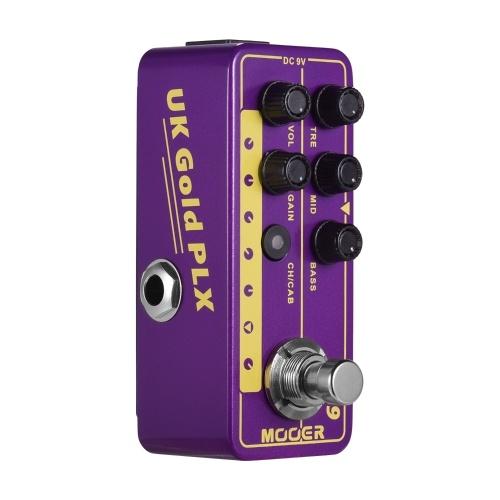 Mooer MICRO PREAMP série 019 UK Gold PLX préampli numérique préamplificateur pédale d'effet guitare