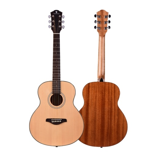 36 Inch Acoustic Guitar Spruce Wood Top Panel Mahogany Wood Back Side Panel