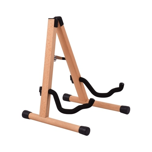 Portable Wood Guitar Stand Solid Wood Folding A-shaped Guitar Stand for Acoustic Guitars Eletric Guitars Bass Ukulele Primary Color