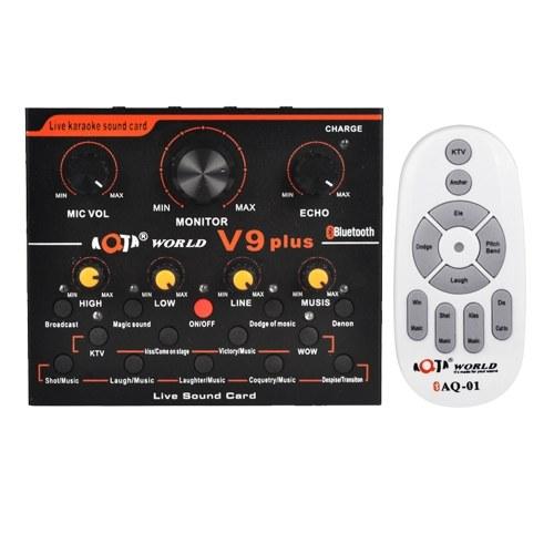 V9 Plus Professional Audio Mixer Audio USB External Sound Card