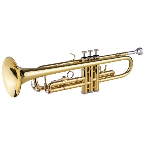 Muslady TR-100 B flat Standard Student Trompeta Sib Llave Latón Lacado dorado Trompeta