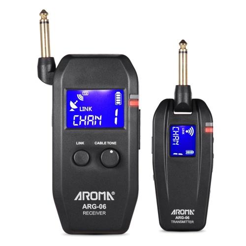 Система беспроводной передачи для гитары AROMA ARG-06 (передатчик и приемник)