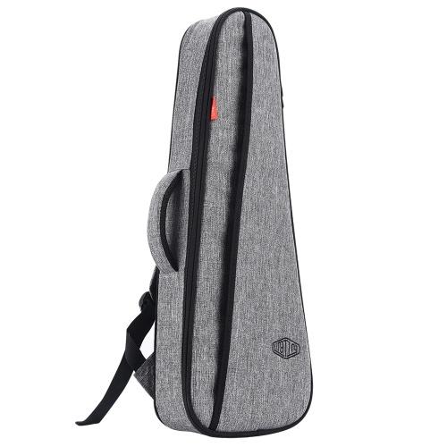 LINGTING  21 Inch/ 23 Inch Universal Ukulele Backpack Soprano/ Concert Ukelele Bag Uke Case 18mm Padding with Double Adjustable Shoulder Straps