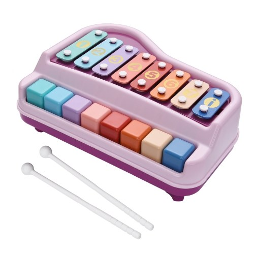 2 in 1 Klavier Xylophon Musikinstrument Spielzeug