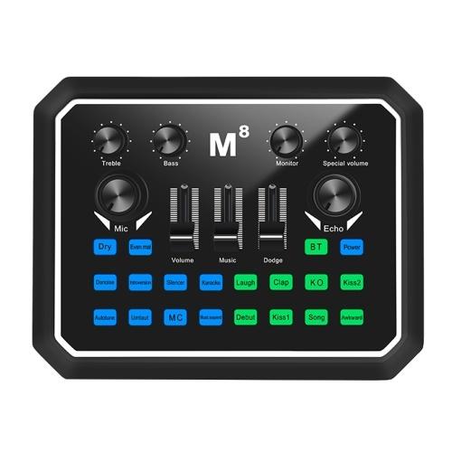 Muslady Live Звуковая карта Универсальная звуковая карта BT Звуковой адаптер для аккомпанемента