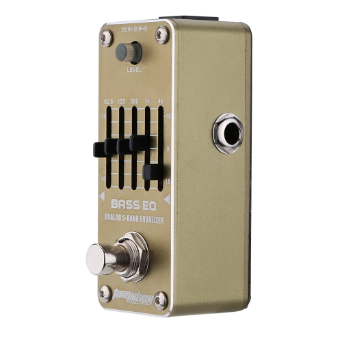 AROMA AEB-3 Bass EQ Analog 5-Band Equalizer Electric Guitar Effect Pedal Mini Single Effect with True Bypass