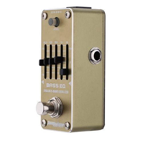 AROMA AEB-3ベースEQアナログ5バンドイコライザエレキギターエフェクトペダル ミニシングル効果とトゥルーバ  イパス