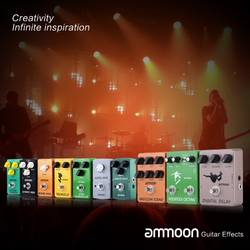 ammoon AP-06 Noise Gate Electric Guitar Effect Pedal Noise Suppressor True Bypass