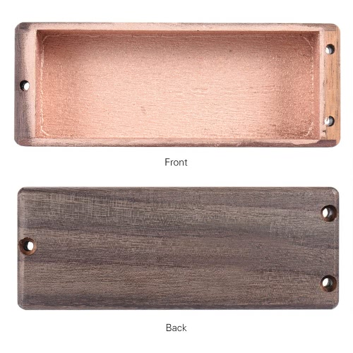 Rosewood Pickup Cover for 4 String Bass Humbucker Replacement