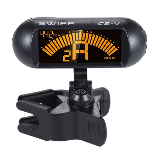 Clip-on Digital Electronic Chromatic Violin Tuner LCD Display 360° Rotating