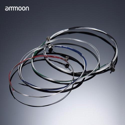 Ammoon Pełny zestaw Wysokiej Jakości Struny skrzypcowe Rozmiar 4/4 i 3/4 Struny skrzypcowe Struny stalowe GDA i E Struny