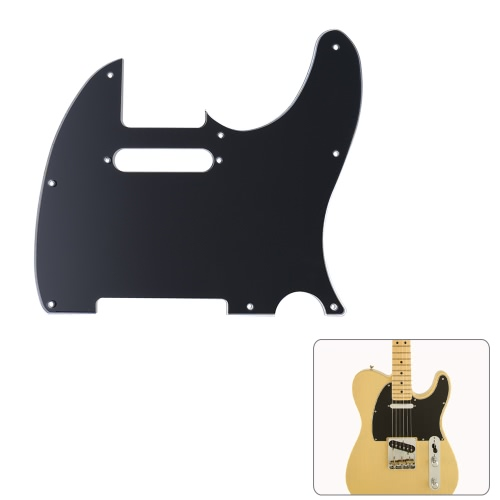Pickguard Pick Guard 3Ply Construction for Fender Telecaster Standard Modern Style Electric Guitar Black