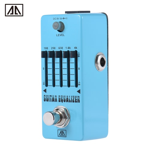 AROMA AEG-5 5-Band Graphic EQ Guitar Equalizer Effect Pedal Aluminum Alloy Body True Bypass