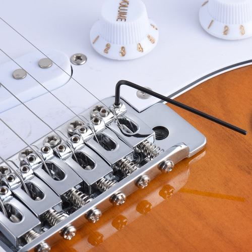 6pcs Gitarre Bass Neck Bridge Schraube Truss Rod Adjustment Schlüssel-Satz-Reparatur-Werkzeug